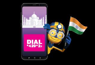 استمتع بدقائق  إضافية  لمكالماتك إلى  الهند