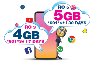 ENJOY  5 GB  FOR  RO 5!  VALID FOR 30 DAYS